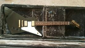Epiphone Gibson '58 Explorer with hard case. Swap valve amp or Tech 21