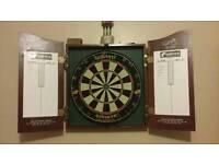 Dart board with 9 darts