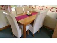 Oak Dining Table Extending & Chairs