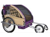 Doble Child Bike Trailer Stroller 3 in 1