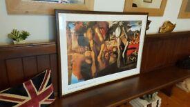 Salvador Dali Large framed picture