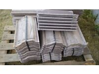 40 Forticrete concrete low pitch roof tiles (39cm x 23cm)