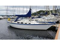 Solid Safe 28 ft Yacht berthed in Argyll