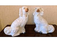 Pair of Large Antique Victorian Staffordshire Dog figurines