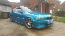 BMW 318  1.8 petrol. 7 months mot. Full respray in atlantis blue.