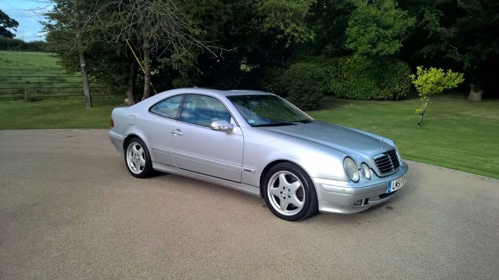 2001 mercedes clk 430 v8 elegance coupe automatic aluminium silver metallic new mot in. Black Bedroom Furniture Sets. Home Design Ideas