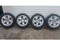 Vauxhall GENUINE 16 ''alloy wheels +4 x tyres 205 55 16