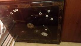 Oriental black lacquer TV cabinet