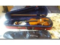 Child's full size violin, excellent condition, only played 1 yr as daughter progressed onto guitar