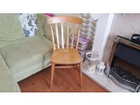 Vintage Retro Style Ercol Style Country Cottage Style  Pine Chair Bedside Table Hall Dining Chair