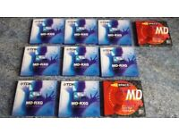 TEN TDK 74 minutes Mixed BLANK MINI DISCS All NEW Sealed Original Packaging Rare To Find!