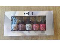 OPI Nail Polish Mini 5 Colors ALL STARS Boxed Set Starlight Red, Pink, White, Nude