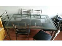 High quality glass dining chair and tables cheap look