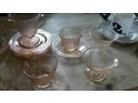 Geanett depression pink blossom cherry pink tea set