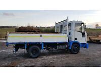 iveco 7.5 ton tipper lorry in great condition ready for work . 3920cc engine