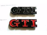 GTI GOLF GRILL BADGE