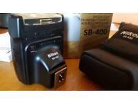 Nikon SB 400 Speedlight Flash