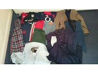 Mens clothing, shirts, jeans, blazer, ted Baker, farah