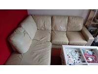 DFS leather corner sofa delivery available