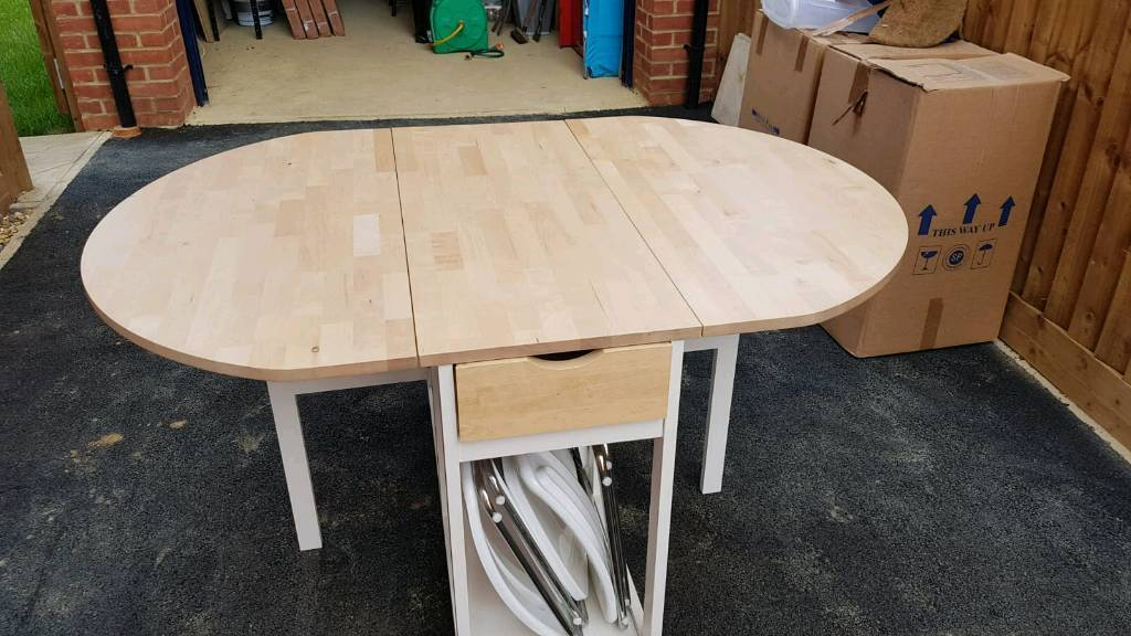 Ikea Folding Table With 4 Chair Storage