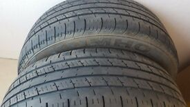 2 kumho tyres with ex tread and in great condition 195/65/15 £20