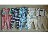Boys Sleepsuits/onesies 0-3 months