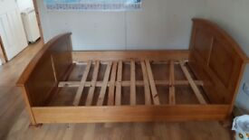 Wooden Bed Frame Double No Mattress