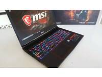 Msi gaming laptop, i7 7700HQ Kaby Lake for sale  Cambridgeshire