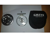 Rare Greys Streamlite 4/5 Click pawl fly reel excellent condition!