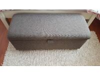 BRAND NEW OTTOMAN with Lined Storage available in GREY **CAN DELIVER**