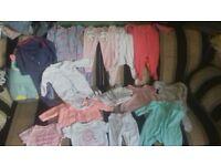 Girls 57 piece clothing bundle