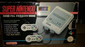 BOXED SUPERNINTENDO WITH 3 GAMES AND EXTRAS