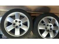 "4 x 15"" in skoda fabia wheels with excellent tyres"