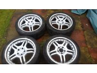 Nice mercedes alloy wheels with very good tyres