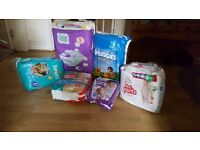 Baby nappy (Pumpras, Huggies etc) for sale size 5 and 5+