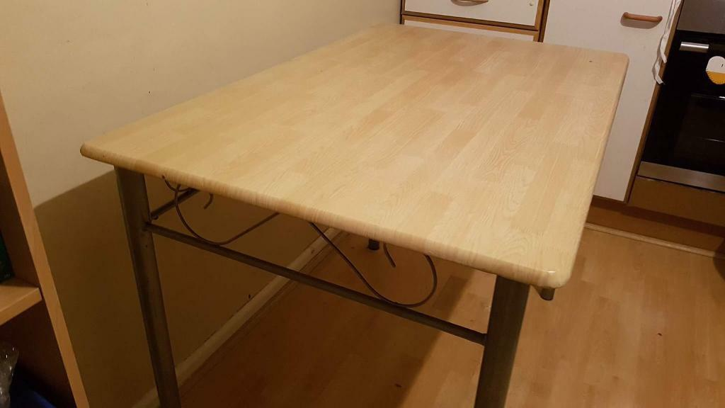 Wood effect kitchen table