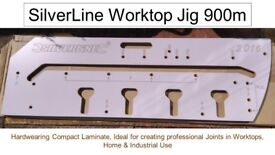 Kitchen Worktop Jig plus x2 Worktop Bolts and Router Bit (instructions and packaging included)