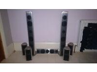 Extremely rare Crane Audio 7.1 Speakers including Submariner Subwoofer