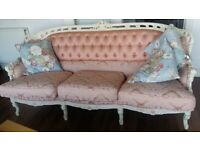 Victorian complete sofa armchair set urgently sell out for clearance