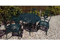 garden set metal garden table and 4 chairs