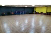 Large studio available for hire, Xercise4Less Rugby.
