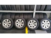 Citroen Genuine 15 alloy wheels + 4 x tyres 185 65 15 Citroen ,Peugeot