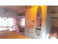 Vintage caravan viking fibreline 5 berth with shabby chic interior