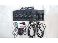 Dell Keyboard, Mouse, Mic and power cables