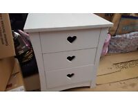 Bedside Table With Heart Detail
