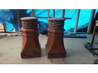 Terracotta clay chimney pots in mint condition. Have been removed and are ready to take