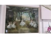 Large vintage ballet print framed