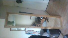 furniture oak mirror