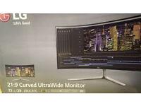 "LG UltraWide 29"" Curved Monitor"