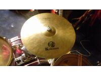 "Rare KDragon Crystal Rock 20"" Ride Cymbal"